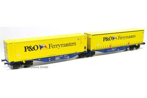 ACME H0 Crossrail O Doppel-Containerwagen Sggmrss '90 P&O Ferrymasters