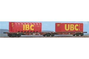 ACME H0 Touax Doppel-Containerwagen Sggmrss '90 IBC/UBC
