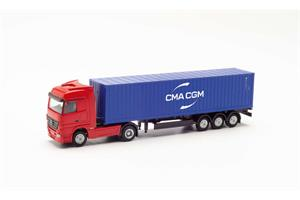 Herpa TT MB Actros Container-Sattelzug, CMA/CGM