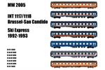 Models World H0 Railtour/SNCB Zugset INT 1117/1118 Ski Express, 7-tlg.