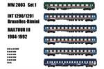 Models World H0 Railtour Zugset 1 INT 1290/1291 Freccia Del Sole, 6-tlg.