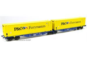 ACME H0 Crossrail Doppel-Containerwagen Sggmrss '90 P&O Ferrymasters