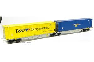 ACME H0 ERS Doppel-Containerwagen Sggmrss '90 P&O
