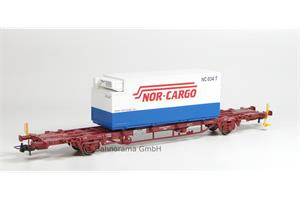 NMJ H0 CargoNet Containerwagen Lgns 42 76 443 2041-8 Nor-Cargo Termo