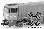 Pirata N Loks und Triebwagen