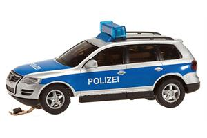 Faller H0 Car System Analog VW Touareg Polizei mit Blinkelektronik (Wiking)
